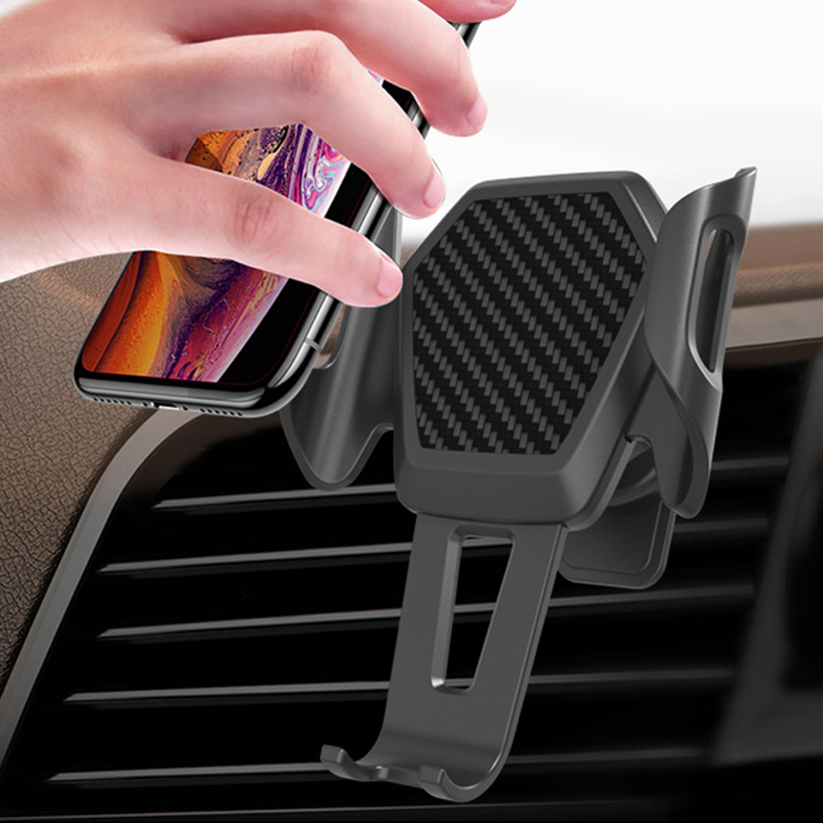 Car Phone Holder For Samsung S10 IPhone Huawei Vent Mobile Cell Phone Car Holder Air Outlet Automatic Support Smartphone Voiture