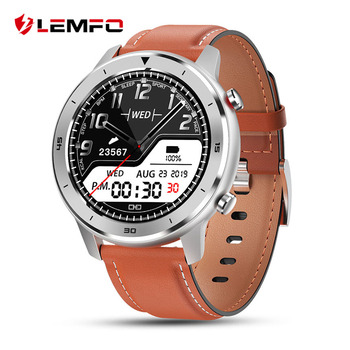 LEMFO Full Round Touch Display Smart Watch Men IP68 Waterproof Heart Rate Blood Pressure Monitor 5 Days Standby Smartwatch