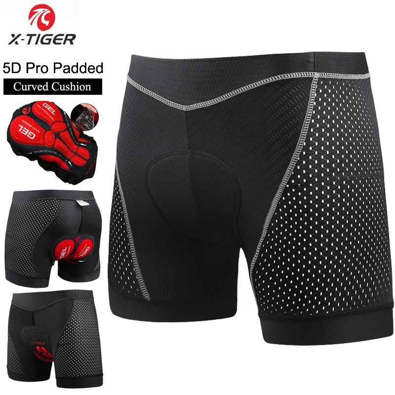 X-TIGER Cycling Short Bicycle Pants 5D Padded Gel Cycling Undershorts MTB Size M