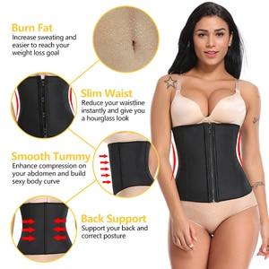 Image 3 - VASLANDA Women Weight Loss Waist Trainer Body Shaper Tummy Control Abodmen Trimmer Belt Shapewear Sweat Girdle Underbust Corset