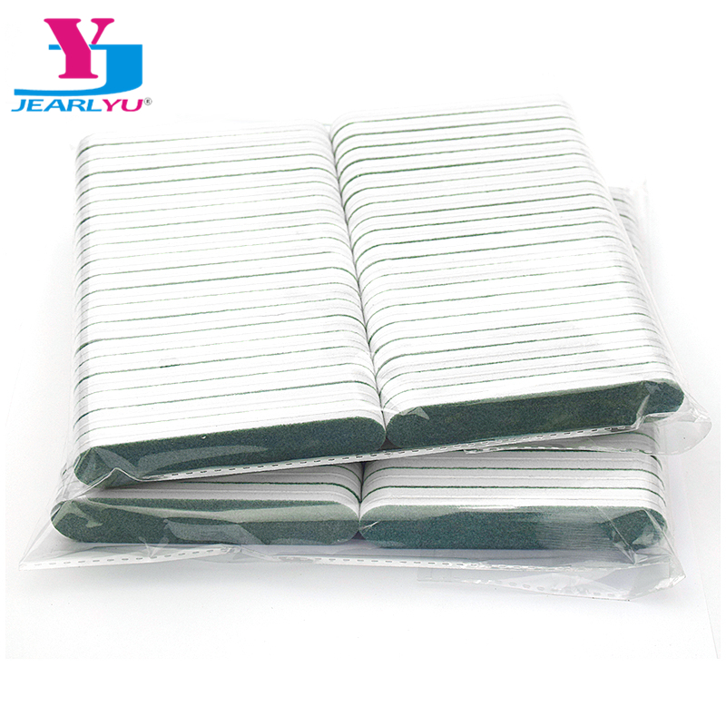 100Pcs/lot Nail File Green Grit 120/180 Professional Sanding Sponge File Emery Board Disposable Lima Beauty Art Tool Hot Selling