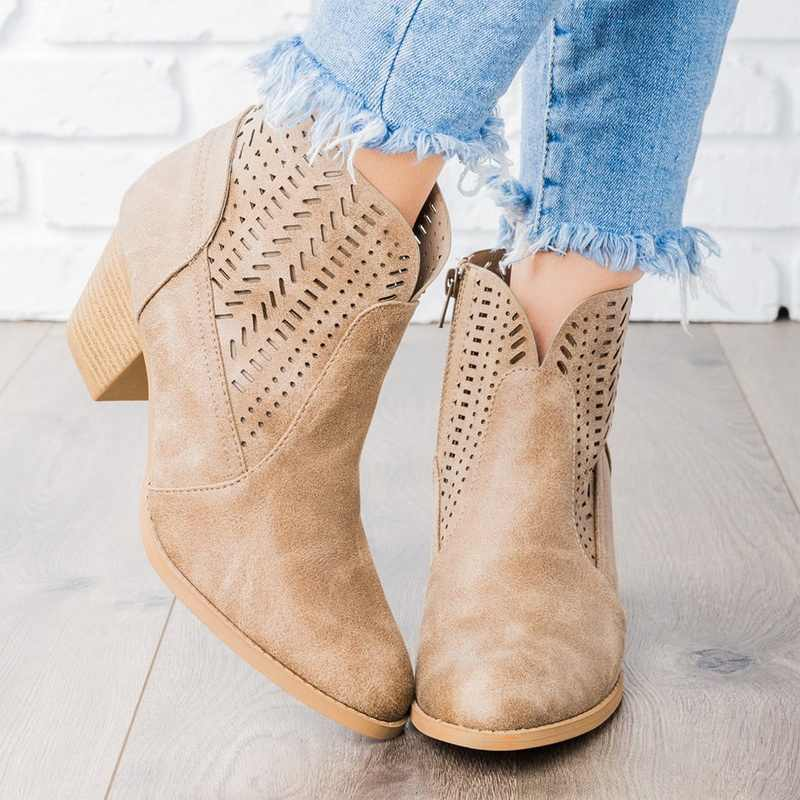 2019 г. Новые Модные Демисезонные ботильоны на платформе женские ботинки на платформе на толстом каблуке 12 см Женские рабочие ботинки черный цвет, большие размеры 43