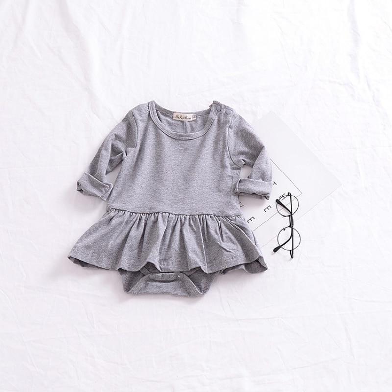 Осенний детский комбинезон легко менять подгузники хлопковый