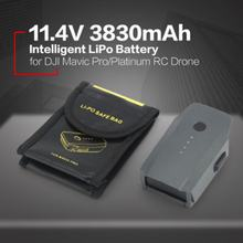 11.4v 3830mah 3s Intelligent Spare Flight Lipo Battery Replacement With Safe Bag For Dji Mavic Pro Platinum Fpv Rc Drone(China)