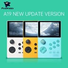 Powkiddy a19 caixa de pandora android supremo handheld jogo console ips tela embutido 3000 + jogos 30 3d novos jogos wi-fi baixar