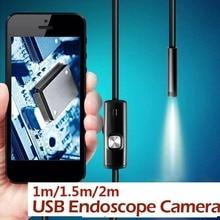 7 мм Портативный эндоскоп инструмент для чистки ушей usb-бороскоп IP67 6 светодиодный мониторинг мобильных телефонов осмотр видео-фотографий в реальном времени компьютеры