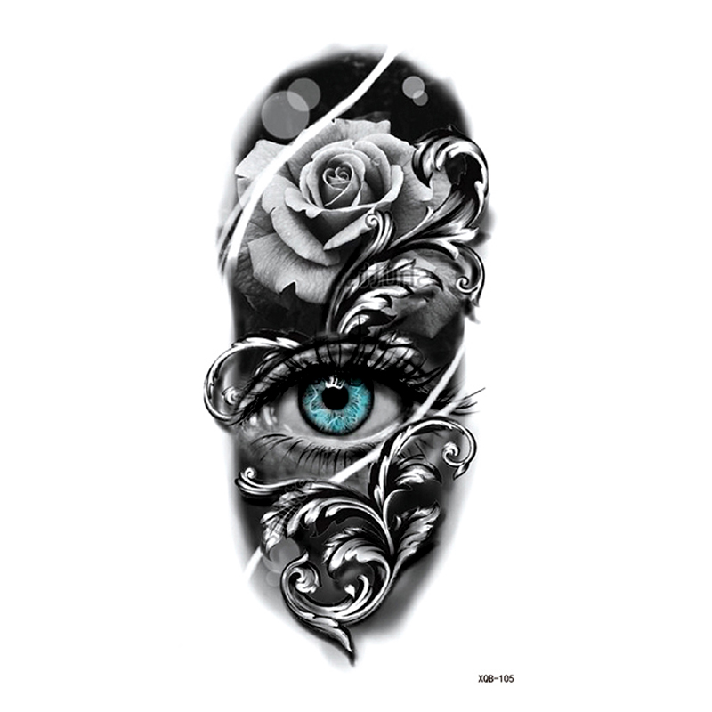 Drogon/Flower Eye/owl Temporary Tattoo Stickers Tatoo Men Henna Tatoo Body Art Tattoo Waterproof Temporary Tattoos Sleeves