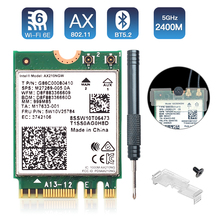 2.4Gbps WiFi 6 AX210 Dual band 2.4G/5Ghz 802.11AX Bluetooth 5.2 WI-FI 6E WiFi Card Wireless Network Adapter For Windows 10 Linux