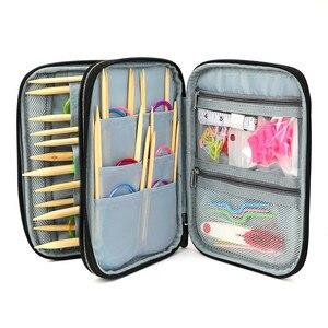 Image 3 - Koknit vazio tricô agulhas caso organizador de armazenamento de viagem saco de armazenamento para agulhas de tricô circular e outros acessórios