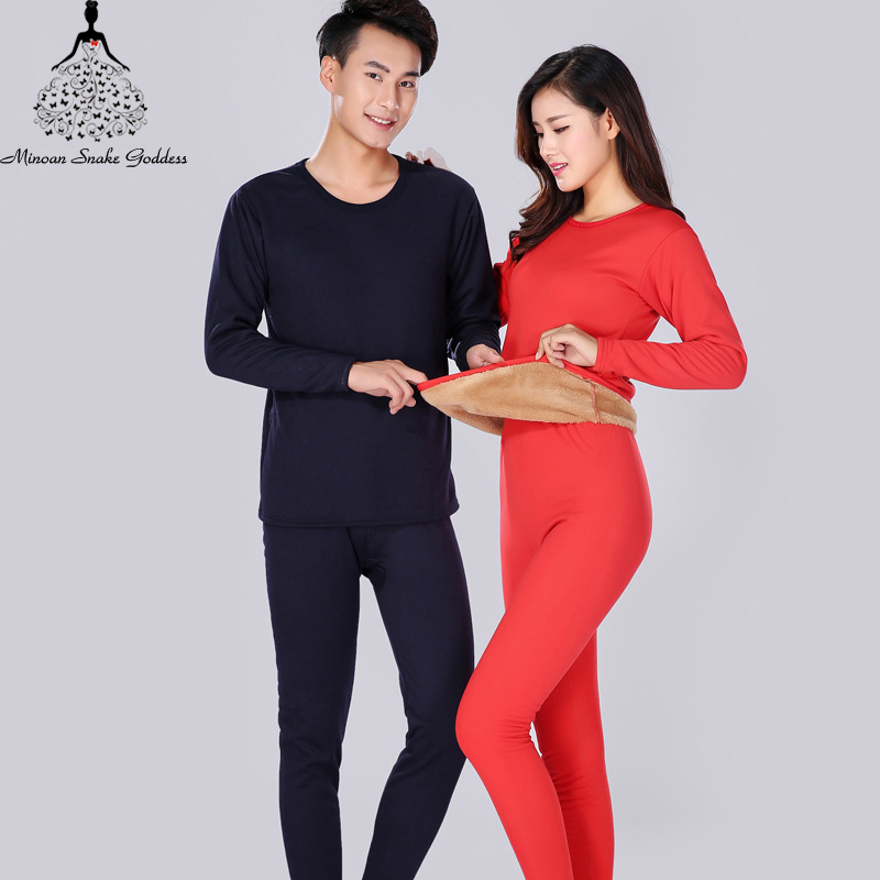 Long Johns For Male Female Warm Thermal Underwear Winter Clothing Men Woman Thermal Set Thick Velvet Warm Suit Thermo Lingerie
