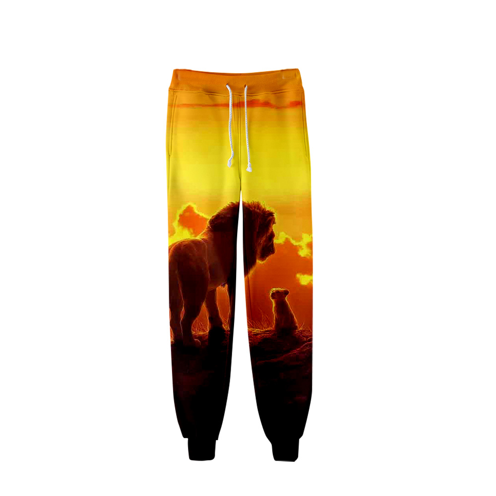 Fashion The Lion King Simba 3D Pants High Quality Sports Pants Trousers Fashion Popular Trend Comfortable Casual Pants 2019