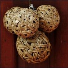 Handmade rattan weave home decoration ball