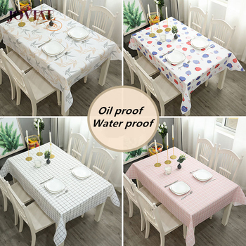 Table Cloth PEVA Anti-pollution Antependium Polyester Fiber Kitchen Live Family Cozy Waterproof Oilproof Dinner Rectangular