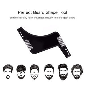 Image 2 - OSHIONER plantilla Universal para Estilismo de barba, plantilla para Barba, peine de doble cara, herramienta para dar forma a la barba, 1 Uds.