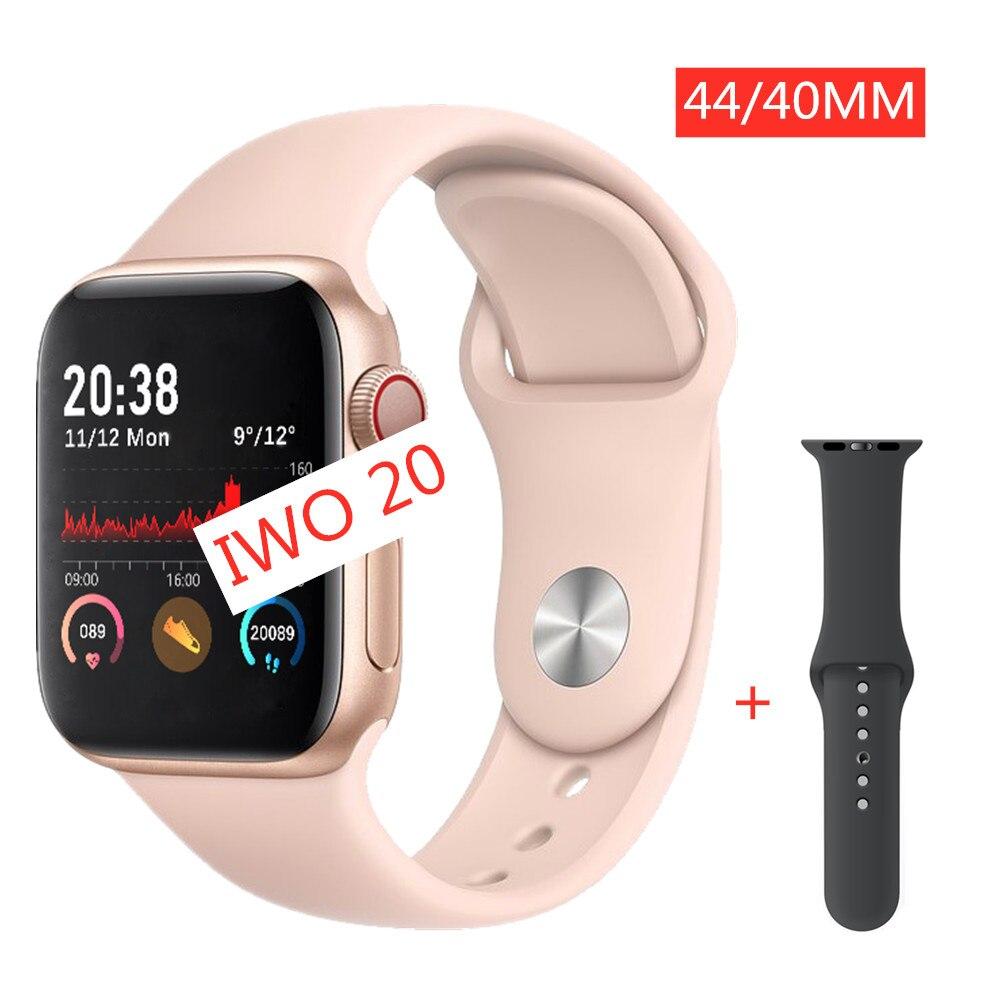 2020 IWO 20 Smart Watch 40/44mm TWO Straps Women Men Smartwatch Series 5 MTK2502C ECG Heart Rate Dial/Answer Call PK IWO 12