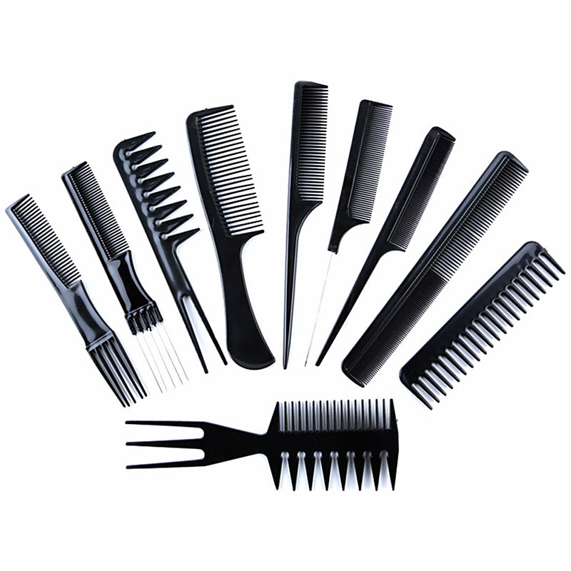 10Pcs/set Anti-static Hair Combs Sets Barber Hair Cutting Comb Pro Salon Hair Care Hairdressing Styling Tools For Women Men Hair