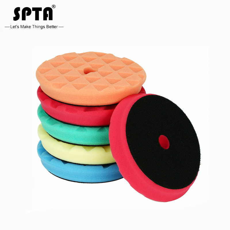 (Bulk Sales 2) SPTA 6.5Inch (165mm) Heavy Cut Polishing Pads & Buffing Pads For 6Inch(150mm) RO/DA/GA Dual Action Car Polisher