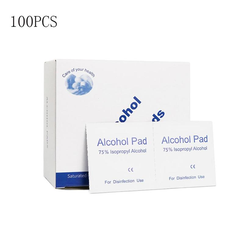 100pcs Disposable Alcohol Wet Wipe Disinfectant Cotton Antiseptic Skin Cleaning Care Cleaning Wipes