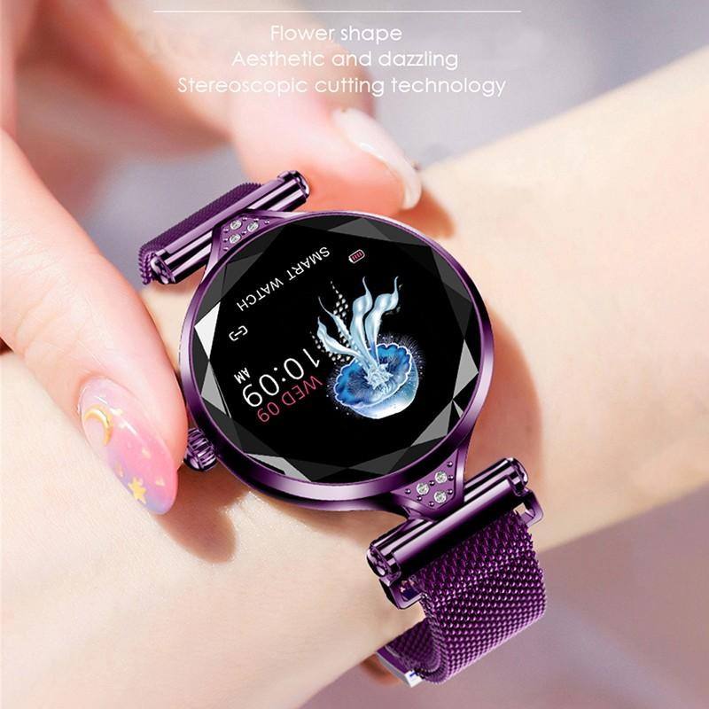 Hf2fb2463be734128922becd87856e7d9t 2021 Fashion Smart Watch Women IP68 waterproof Multi-sports modes Pedometer Heart Rate smartwatch Fitness Bracelet for Lady Gift