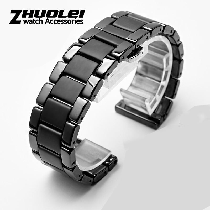 Ceramics Watchband For Huawei GT2 GT Strap Glory Magic Dream With Metal Ceramic Smart Sports Watch Watch2 Pro Bracelet  42 / 46m