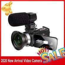 Cámara de vídeo 4K de 48MP, grabadora Vlogging para Youbute, Handycam, WIFI, cámara de captura nocturna, pantalla táctil de lapso de tiempo