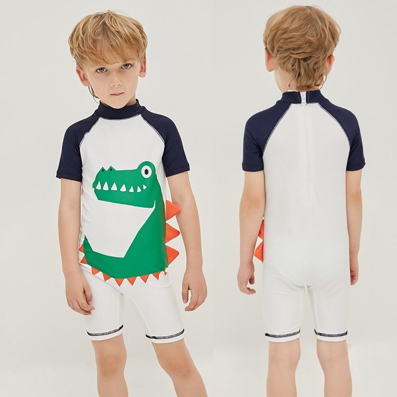 KID'S Swimwear BOY'S One-piece Quick-Dry Tour Bathing Suit Children Baby Crocodile Cartoon Pattern Sun-resistant Bathing Suit Sw