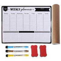 Еженедельный планировщик мягкая магнитная доска магниты на холодильник доска для рисования напоминания блокнот календарь