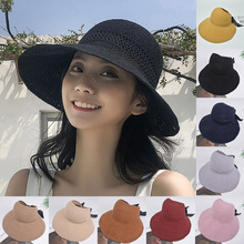 Winter Hat Straw-Hats Floppy Colorful Women Ladies Cap Beach-Sunscreen Fashion Cycling