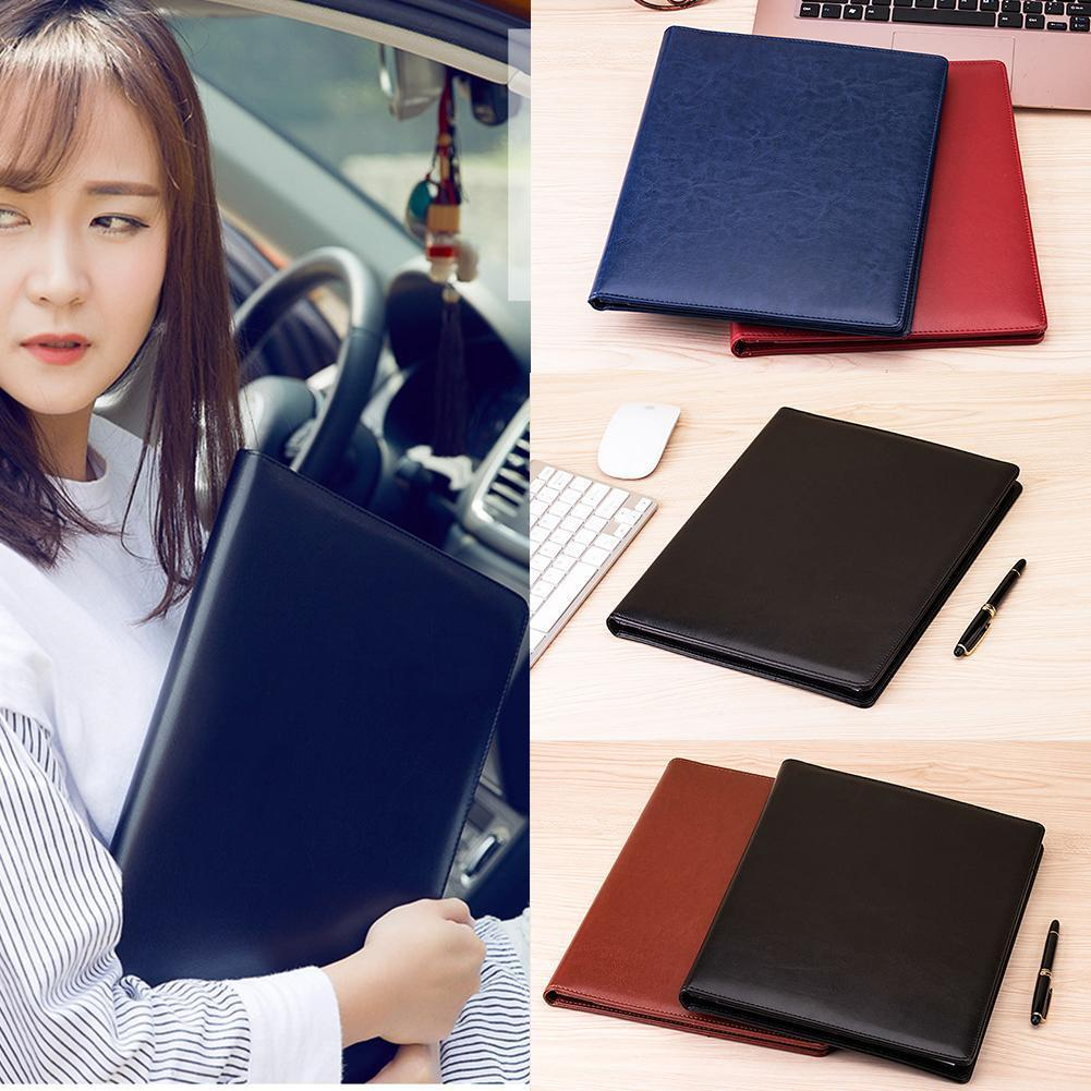 1pc Pu Leather File Folder With Mini Calculator Business Stationery Files Business Folder Supplies Documents Organizer Offi Q7X2