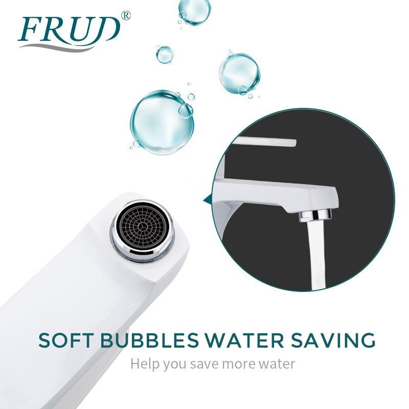 Кран для раковины FRUD, простой современный кран для ванной комнаты, кран с одной ручкой и одним отверстием, кран для горячей и холодной воды, с...