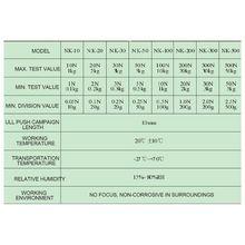 NK 20-500 Механический датчик силы толчок тестер указатель динамометр N/KG блок