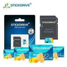 Micro SD карта памяти 4 ГБ 8 ГБ 16 ГБ 32 ГБ 64 Гб 128 Гб Microsd TF/SD карта флэш-накопитель cartao de Карта памяти Microsd карта