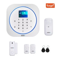 GUUDGO Tuya APP Smart Home WiFi GSM Home Security Alarm System Detector Alarm 433MHz Compatible With Alexa Google Home IFTTT