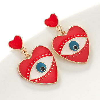 AENSOA 2020 New Fashion Minimalist Black Red Heart Shape Evil Eye Drop Earrings For Women Vintage.jpg 350x350 - Black Red Heart Shape Evil Eye Drop Earrings