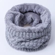 YEABIU, Модный зимний теплый шарф для женщин и мужчин, вязаный шарф-воротник для мужчин и женщин, удобный плотный бархатный шарф