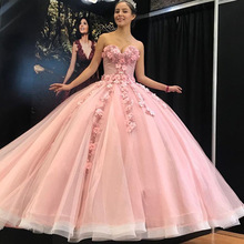 Ball-Gown Quinceanera-Dresses Anos ANGELSBRIDEP Formal Princess Flower Fashion Vestidos-De-15