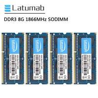 Latumab RAM DDR3 8GB 16GB 32GB 1866MHz portátil Memoria PC3-14900 204 pines SODIMM 1,5 V Memoria RAM DDR3 portátil módulo de Memoria