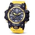 Männer Sport Led Uhr Dual Display Military Wasserdicht Kreative Led Leucht Armbanduhr Multifunktions Woche Display
