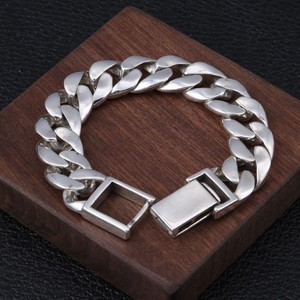 Image 4 - BOCAI 100% real s925 pure silver jewelry personality rattan grass silver bracelet for men, domineering Thai silver man bracelet