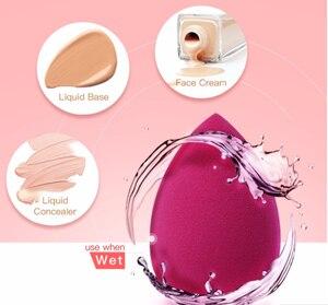 Image 4 - BeautyPaPa aplicador de maquillaje negro Blender Super suave esponja polvo licuadora base suave Contorno de mezcla Puff
