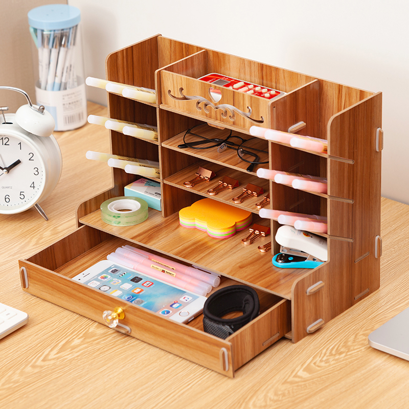 Wooden Desk Organizer 4
