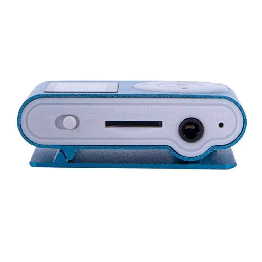 Metalowy klips cyfrowy Mini odtwarzacz MP3 z 1.8 Cal podpórka ekranu lcd TF Card USB 2.0 z gniazdo jack do słuchawek 3.5mm