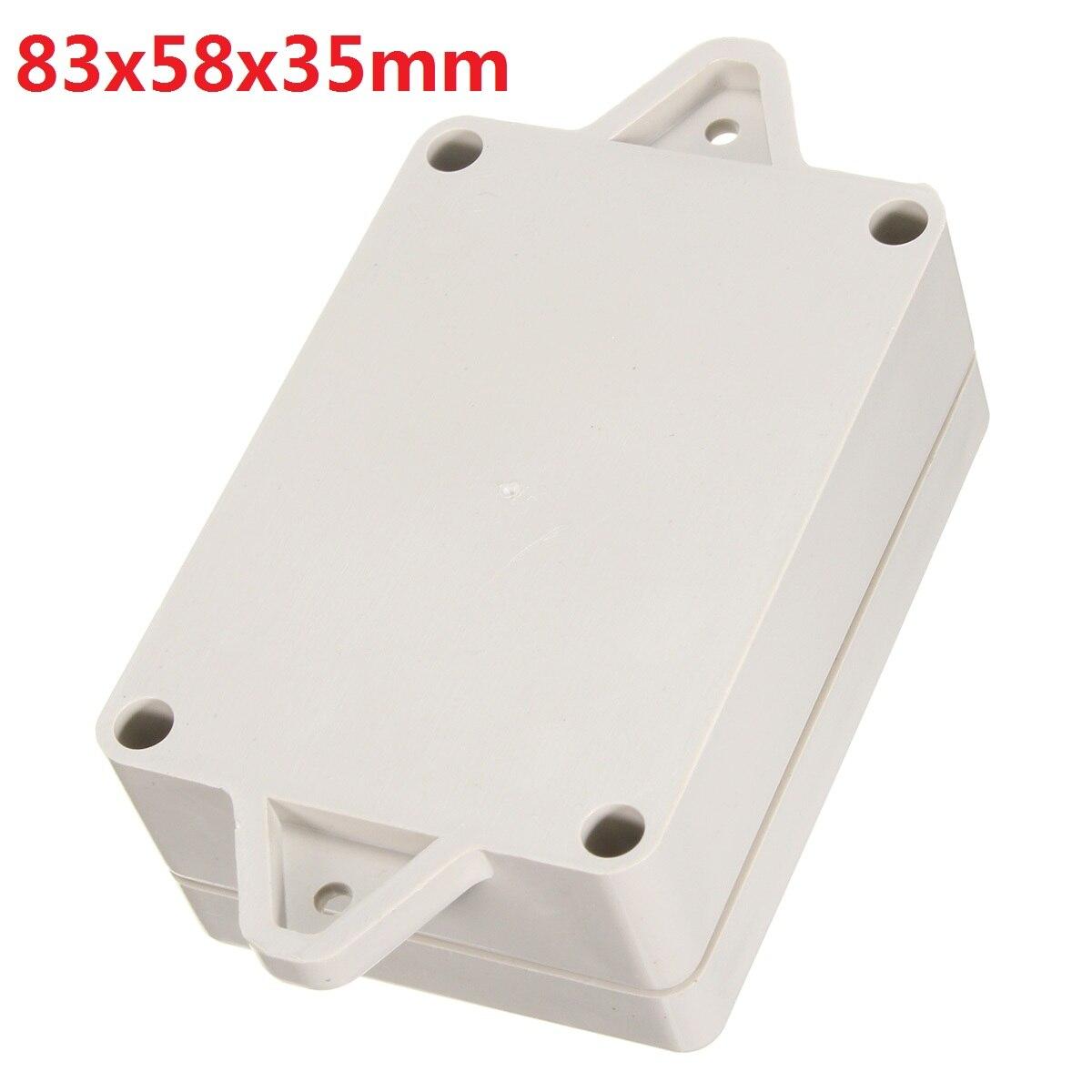 1 шт., 83x58x35 мм, пластиковая водонепроницаемая крышка, чехол для электронного инструмента, белая коробка для корпуса