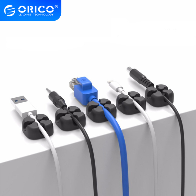 ORICO USB Cable Winder Wire Cable Organizer Desktop Clips Cord Management Headphone Holder For Mouse Earphone Charging Data Line