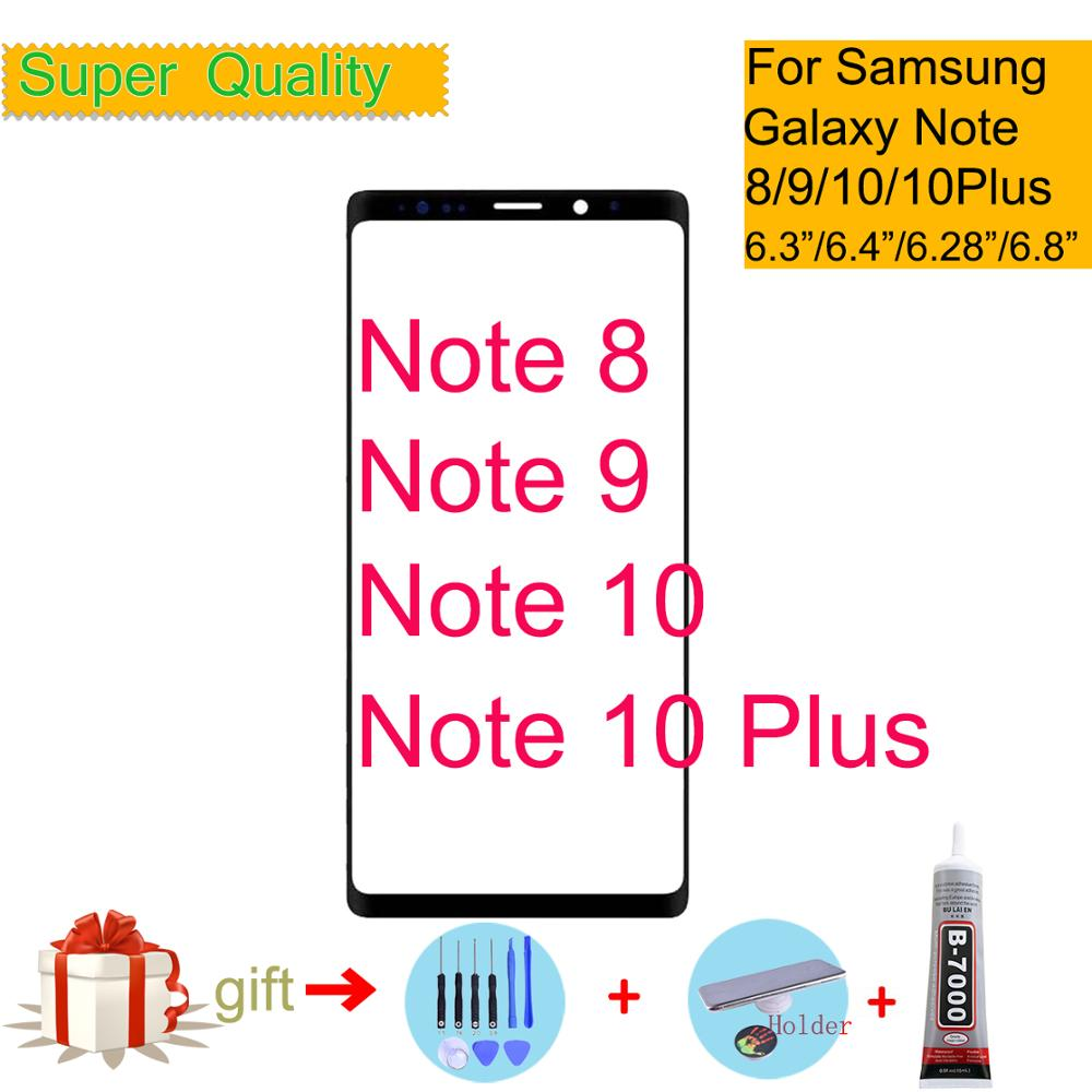 Note 8 Note 9 Front Outer Glass Lens Cover For Samsung Galaxy Note 10 Plus LCD Glass Touch Screen Panel Replacement