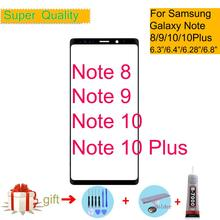 Note 8 Note 9 Front Outer Glass Lens Cover For Samsung Galaxy Note 10 Plus LCD glass Touch Screen Panel Replacement back glass housing for samsung galaxy note 9 n9600 n960f rear battery cover outer camera lens front outer glass panel tools