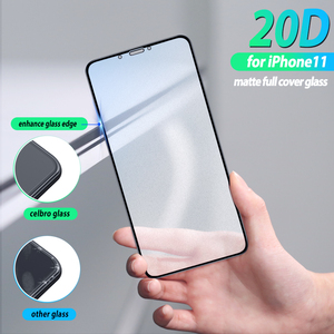 Image 2 - Volledige Cover Frosted Glas Film Voor Iphone 11 Iphone11 Pro Max Glas Bescherming Matte Beschermende Glas Voor Iphone11 Pro Xi xs Xr X