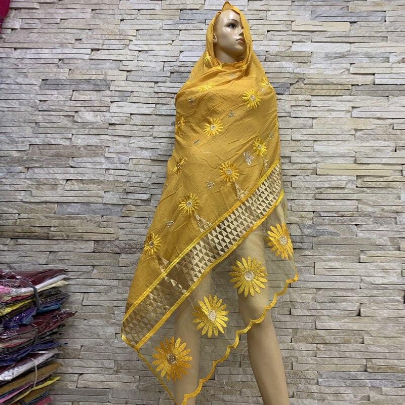 Real Shot!African Women Cotton Scarfs Cotton Splicing Net Scarf Soft Headscarf Women Hijab Scarf On Sales BM816