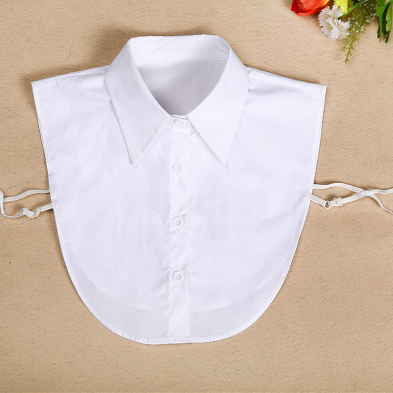 Office Ladies Blouse white fake collar turndown collar 2020 Fashion Elegant Women Fake Half Shirt Detachable Female Clothing