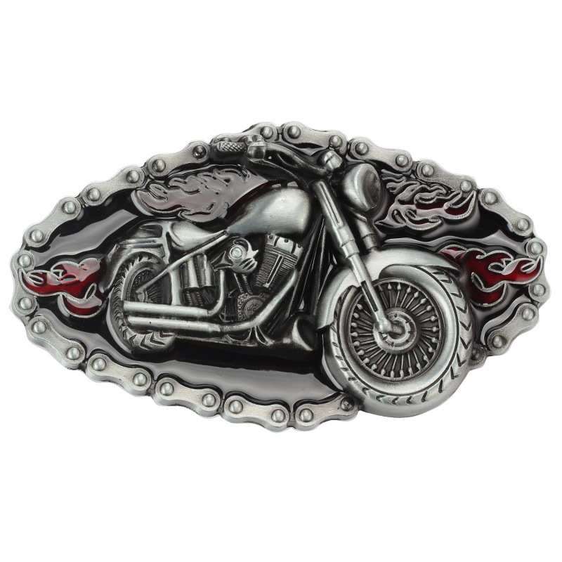 Western Cowboy Dress Belt Buckle Motorcycle Zinc Alloy Buckle Wear Men's Clothing Accessories For 4.0cm Belt